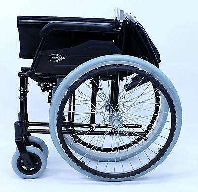 ultra light adult wheelchair transport foldable black
