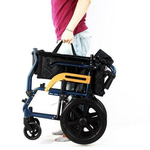 Ultra Lightweight and Aluminium Frame Portable Chair Wheelchair