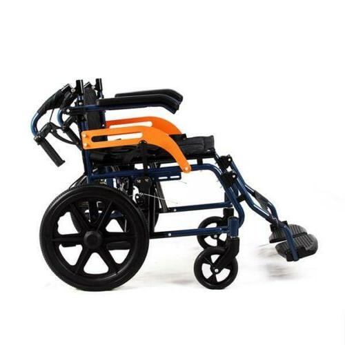 Ultra Lightweight Aluminium Frame Travel Chair Wheelchair