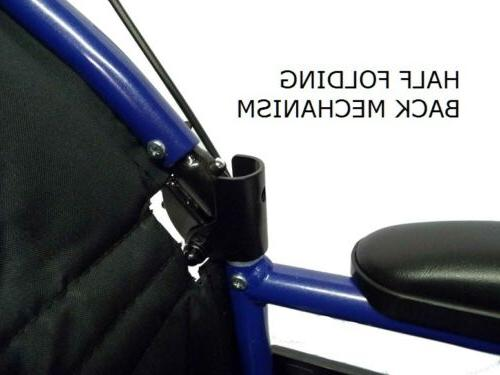 Lightweight folding wheelchair with