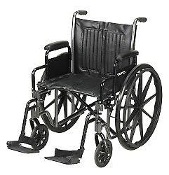 McKesson Standard Wheelchair with Swing Away Footrests - Swi