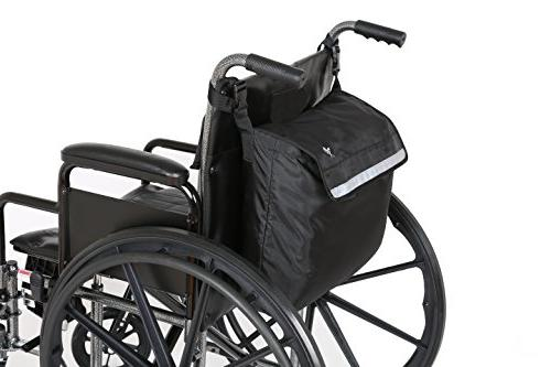 Pembrook Wheelchair - Black - Great mobility Fits Scooters, Walkers, Manual, Wheelchairs