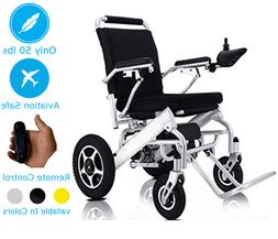 Lightweight Electric Wheelchair Portable Motorized Power Whe