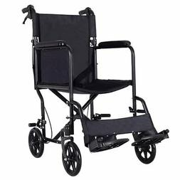 Giantex Lightweight Foldable Medical Wheelchair, Wide Seat,