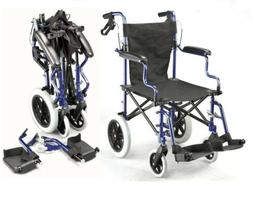 Lightweight folding deluxe travel wheelchair in a bag with h