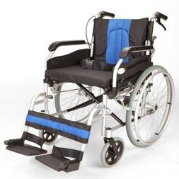 lightweight folding extra wide self propelled wheelchair