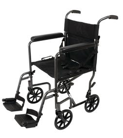 "ProBasic Lightweight FOLDING Transport Wheelchair with 19"" W"