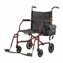 "Medline Lightweight Steel Transport Chair, 19"" Wide Seat,Des"