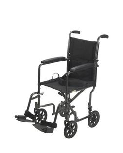 Lightweight Steel Wheelchair 19 Seat Fixed Full Arms Drive M