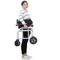 Wheelchairs Lightweight Transport Adult Folding with Handbra
