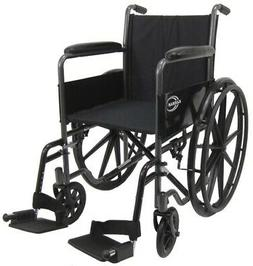 Karman Lightweight wheelchair with removable footrest, 18 in
