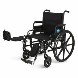 Lightweight Wheelchair w/Flip-Back Desk Arms & Elevating Leg