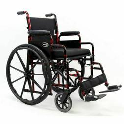 Lightweight Wheelchair with Removable Armrest, compact when