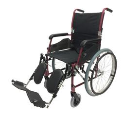 Karman 24 Pound Ultra Lightweight Wheelchair In Burgundy wit