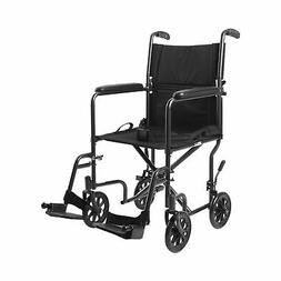 "McKesson Lightweight Transport Wheelchair Steel 19"" W 250 lb"