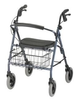 NOVA Mack Heavy Duty Rollator Walker 400 lb Weight Capacity,