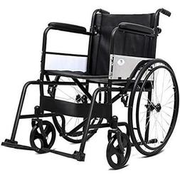 Manual Folding Medical Transport Wheelchair W/Footrest Handb