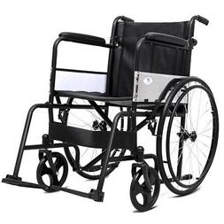 Giantex Manual Folding Medical Transport Wheelchair w/ Footr