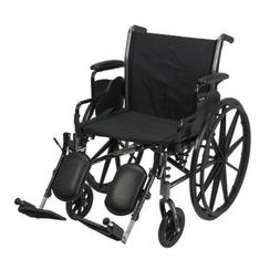 MCKDS Lightweight Wheelchair McKesson Padded Removable Style