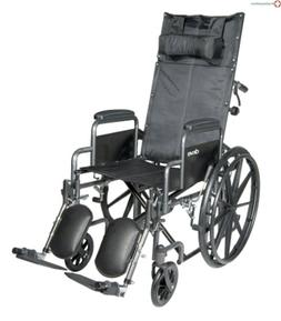 MCKDS Reclining Wheelchair McKesson Removable Arm Style Blac