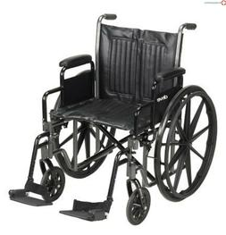 MCKDS Wheelchair McKesson Padded Removable Arm Style Black 2