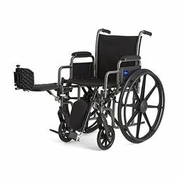 Medline MDS806300EE WHEELCHAIR, Vinyl, DLR, ELR, K2B, 18""
