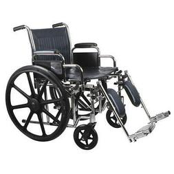MDS806750 Wheelchair, 350 lb, 20 In Seat, Silver/Navy