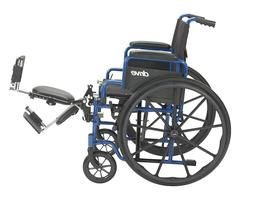 medical blue streak wheelchair 18 flip back
