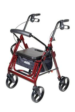 DRIVE MEDICAL DUET DUAL FUNCTION TRANSPORT WHEELCHAIR OR WAL