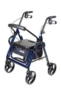 Drive Medical Duet Dual Function Transport Wheelchair Rollat