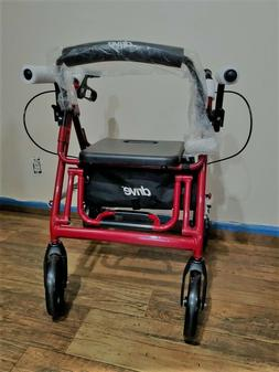 Drive Medical Duet Transport Wheelchair Rollator Walker, 795