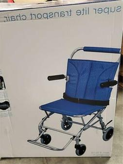 Drive Medical Super Light, Folding Transport Chair with Carr