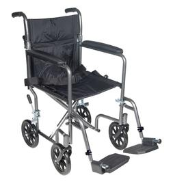 Drive Medical TR37E-SV Lightweight Steel Transport Wheelchai