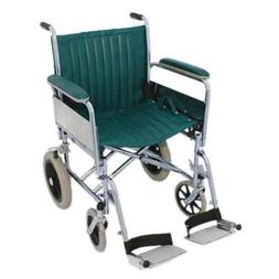 "MRI Basic Transport Wheelchair 20"" - Detachable Footrests Gr"