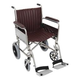 "MRI Basic Transport Wheelchair 20"" - Detachable/Elevating Fo"