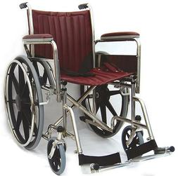 "MRI Wheelchair - Seat 22"", Swing-Away Detachable Footrests"