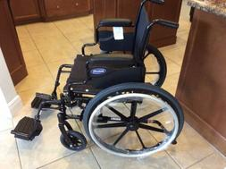 NEW 18 In Seat INVACARE TRACER SX5 FOLDING WHEELCHAIR; Stand