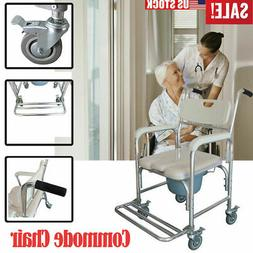 New Adult Wheelchair Bedside Commode Toilet Seat Bathroom Sa