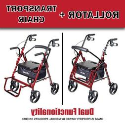 NEW DUET Transport Chair and Rollator All in One Medical Wal