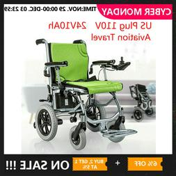 new folding lightweight electric power wheelchair mobility