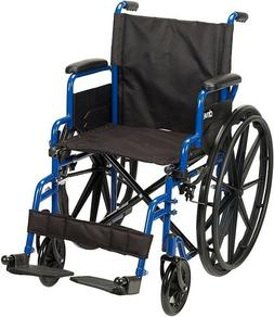 New Drive Medical Blue Streak Wheelchair 18 Seat - Free Ship