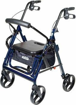 *New* _ Drive Medical Duet Transport Wheelchair Rollator Wal