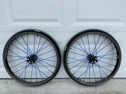 New Spinergy Sport X-laced XSLX Wheelchair Wheels Quickie.Ti