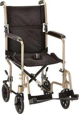 NEW NOVA Medical Products Steel Transport Chair, Champaign,