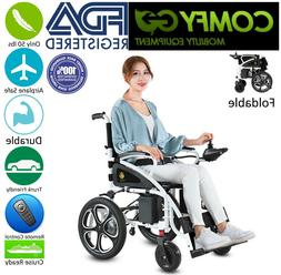 New Ultra Black Foldable Lightweight Electric Wheelchairs  2