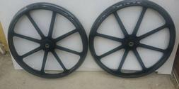"PAIR/2 MEDLINE 24"" WHEELCHAIR REAR BACK WHEELS SOLID TIRE w"