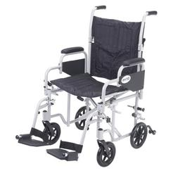 Drive Medical Poly Fly Light Weight Transport Chair Wheelcha