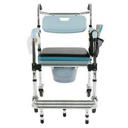 Portable 4-in-1 Bedside Commode Toilet Safety Bathroom Showe