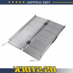 TURBO SII Portable Aluminum Non-skid 3' Wheelchair Ramp Mobi