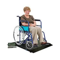 NEW Digital Portable Floor Wheelchair Scale Platform with Ra